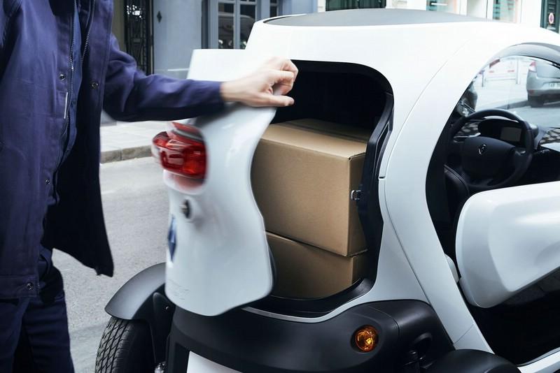 Das Ladeabteil des Renault Twizy Cargo