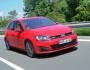 Roter VW Golf GTD 2013er Modell Fahraufnahme