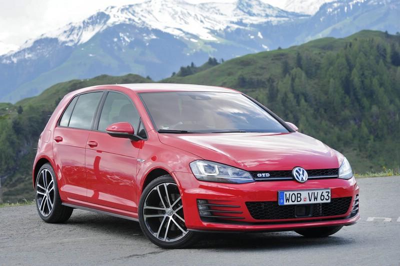 Die Frontpartie des VW Golf GTD Standaufnahme