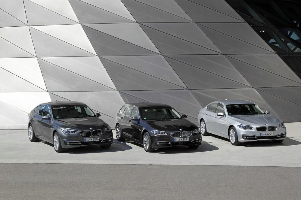 2013 BMW 5er in drei verschiedenen Ausführungen