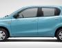 Blauer Datsun Go in der Seitenansicht