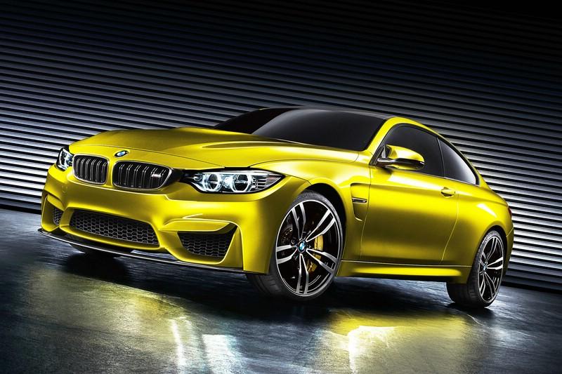 BMW Concept M4 Coupé in der Lackierung Aurum Dust