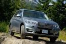 Der Frontspoiler des BMW X5 xDrive 30d 2014