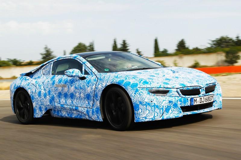 BMW i8 Exterieur Aufnahmen auf der Rennstrecke