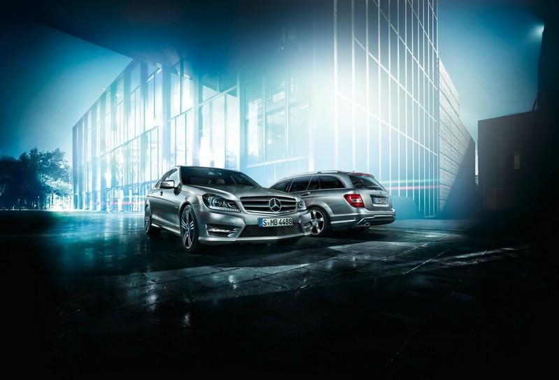 Die aktuelle Mercedes-Benz C-Klasse als Limousine und Kombi