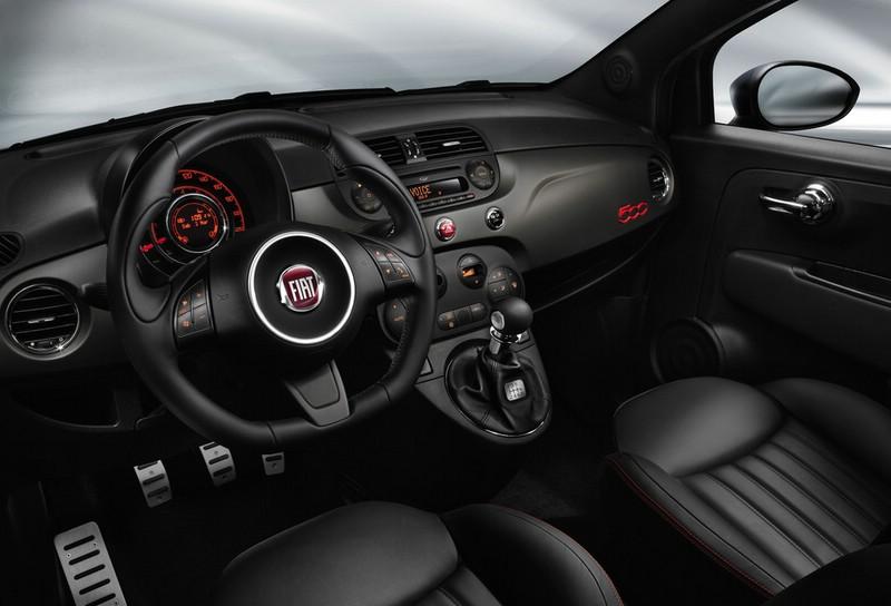 Der Innenraum des Sondermodells Fiat 500 GQ