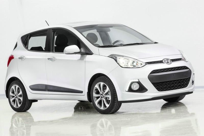 Hyundai i10 in der Karosseriefarbe Weiss