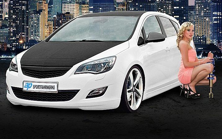 Opel Astra mit einem Sportfahrwerk von ap Sportfahrwerke