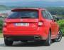 Skoda Octavia RS als Kombi in rot in der Heckansicht