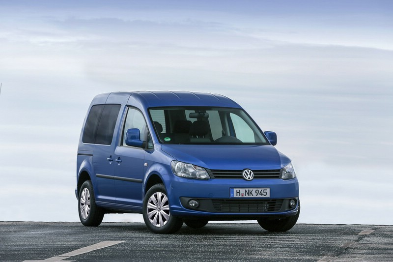 Die Frontpartie des neuen Volkswagen Caddy Blue Motion