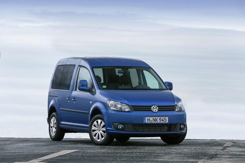 Die Frontpartie des neuen Volkswagen Caddy Blue Motion