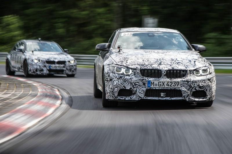 Erlkönig BMW M3 und M4 auf der Rennstrecke