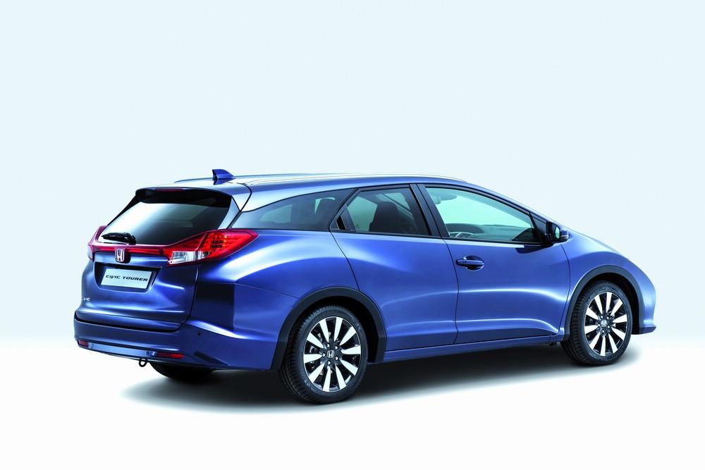 Honda Civic Tourer 2014 in blau in der Seitenansicht