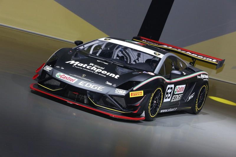 Rennwagen Lamborghini Gallardo Super Trofeo auf der IAA 2013 in Frankfurt