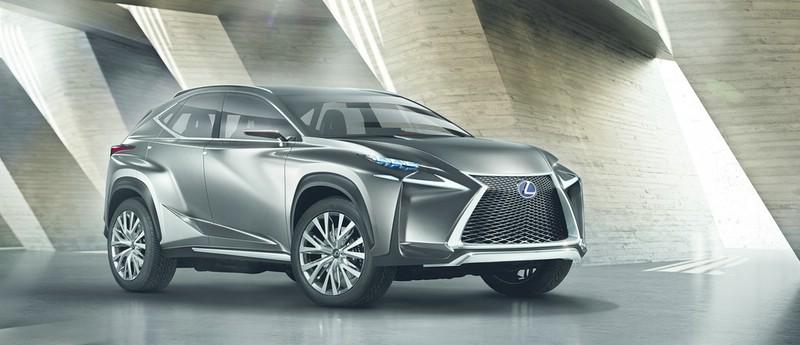 Die Frontpartie des Konzeptfahrzeuges Lexus LF-NX