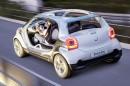 Konzeptfahrzeug smart four joy wird auf der IAA 2013 gezeigt