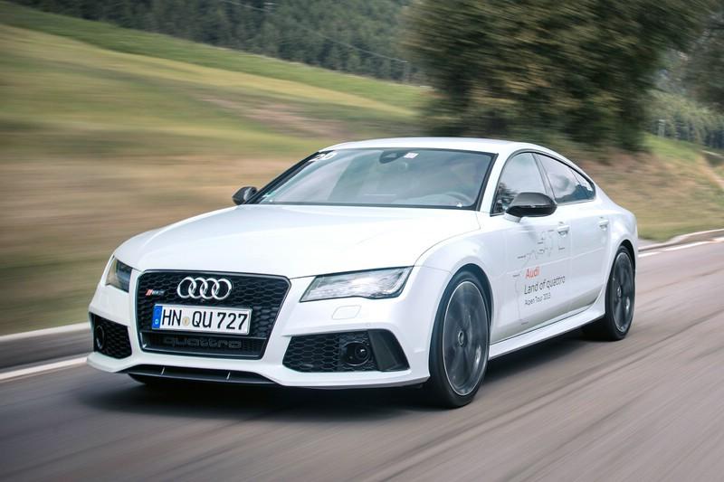 Audi RS 7 Sportback in weiß mit Top Fahrleistungen