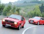 Roter Audi Sport quattro und RS6 Avant beiden von vorne