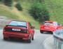 Audi Sport quattro und RS6 Avant beide in rot von hinten