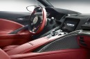 Rote Akzente im Innenraum des Honda NSX CONCEPT