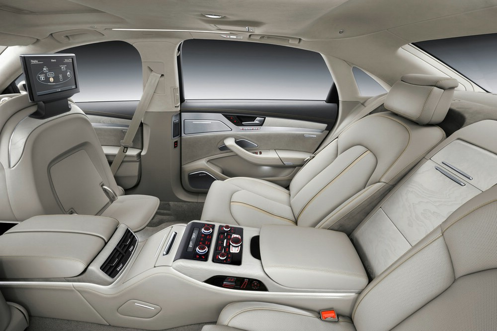 Der luxuriose Innenraum des A8 2014 mit langem Radstand