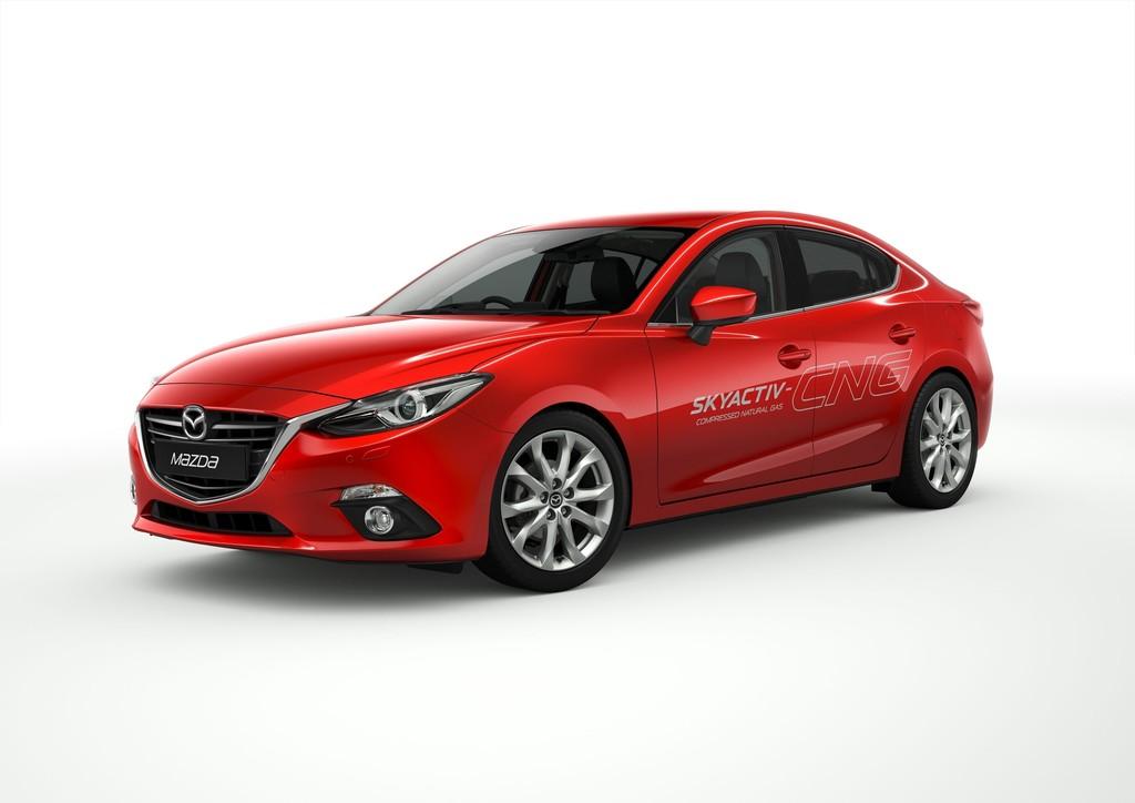 Der Mazda3 Skyactiv-CNG fährt mit Erdgas