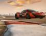 Roter McLaren P1 2013 Standaufnahme