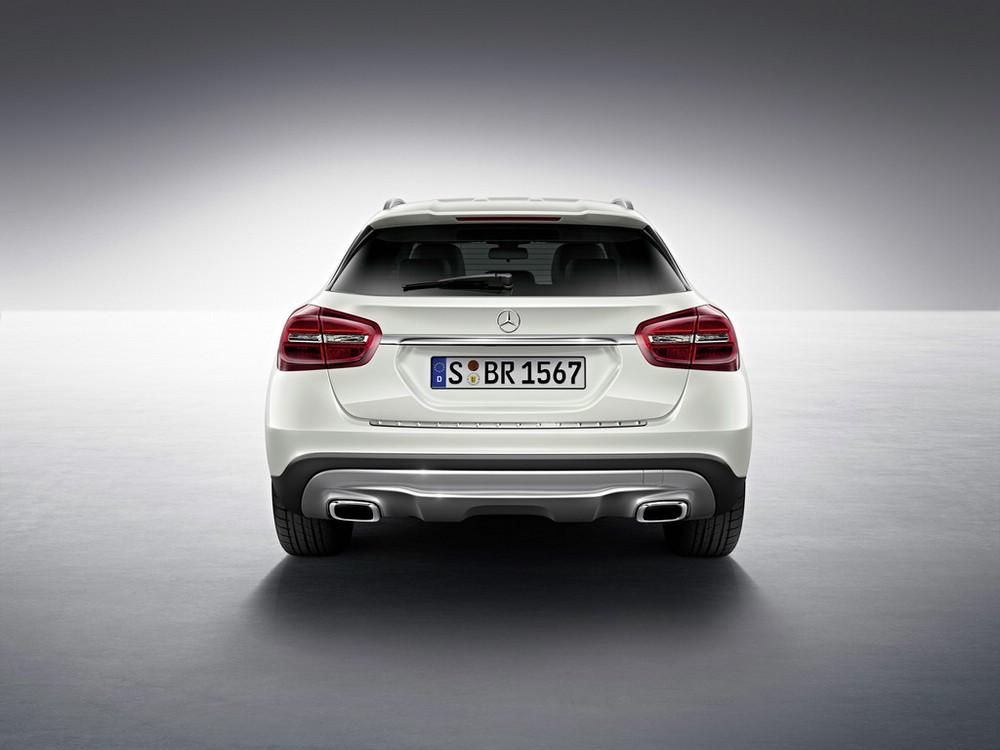 Das Heck der neuen Mercedes-Benz GLA Edition 1