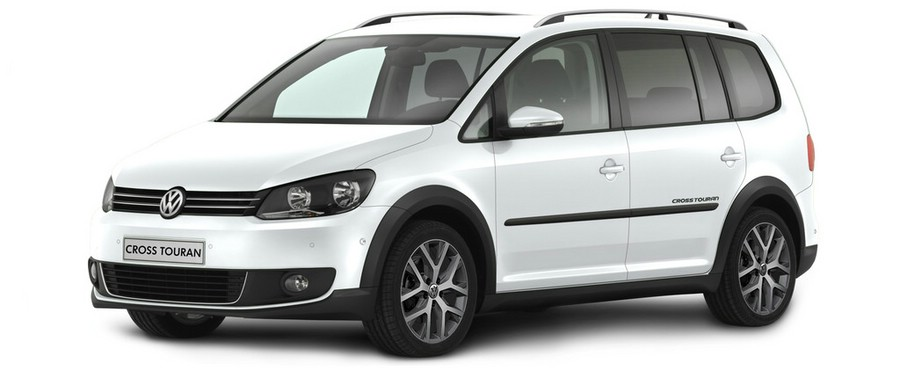 galerie volkswagen cross touran in pure white bilder. Black Bedroom Furniture Sets. Home Design Ideas