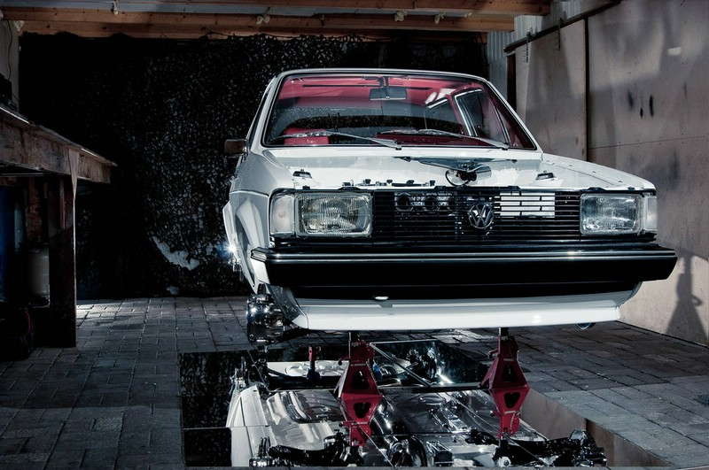 Volkswagen Jetta Tuning auf der Hebebühne