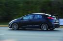 Fahraufnahme vom Honda-Sporler Civic Type R