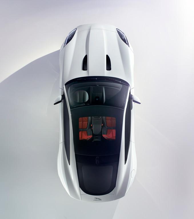 Dachansicht des Jaguar F-Type Coupé