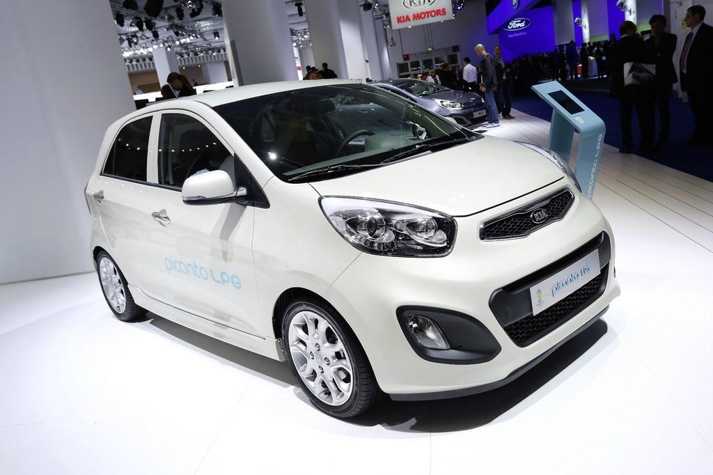 Weißer Kia Picanto LPG mit Autogastechnik