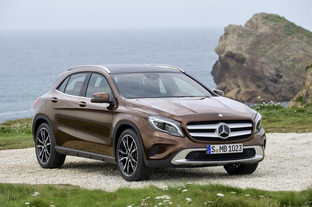 Der neue Mercedes-Benz GLA von vorne
