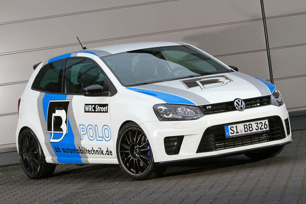 Frontansicht des Volkswagen Polo R WRC Street 2.0 TSI von B&B