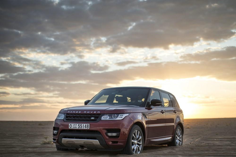 Rekord für den Range Rover Sport im Sand