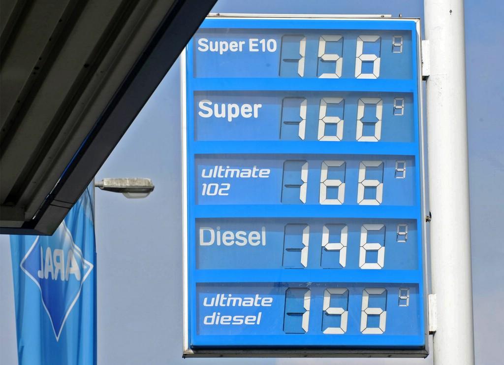 Die Kraftstoffpreise auf Aral Tafel