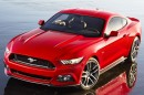 Ford Mustang 2014 in rot in der Frontansicht