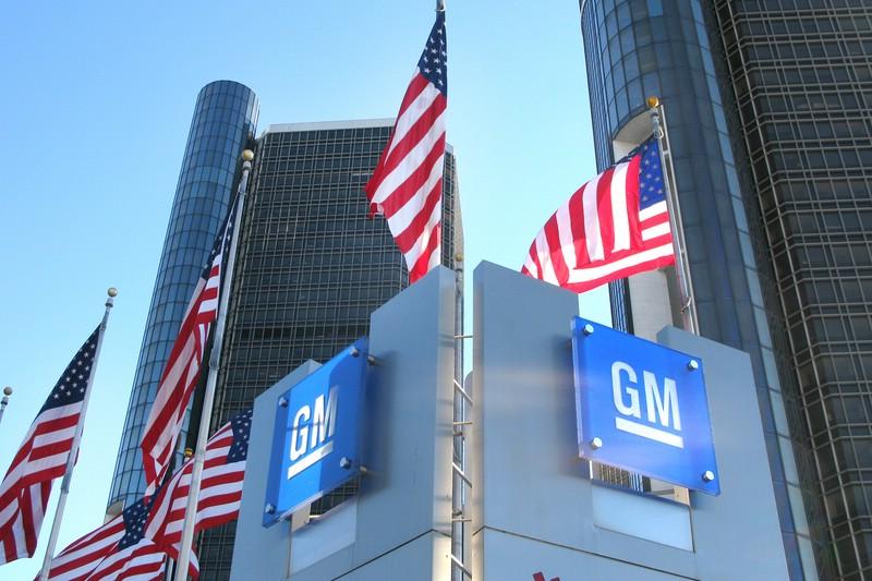Das General Motors Gebäude in Detroit (USA)