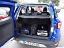 Der Kofferraum des Ford Ecosport mit 1240 Liter Volumen