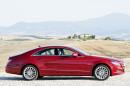 Mercedes CLS 250 CDI in rot von der Seite