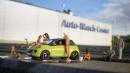 Modellauto Opel Adam - Sommerwäsche bei strahlendem Sonnenschein