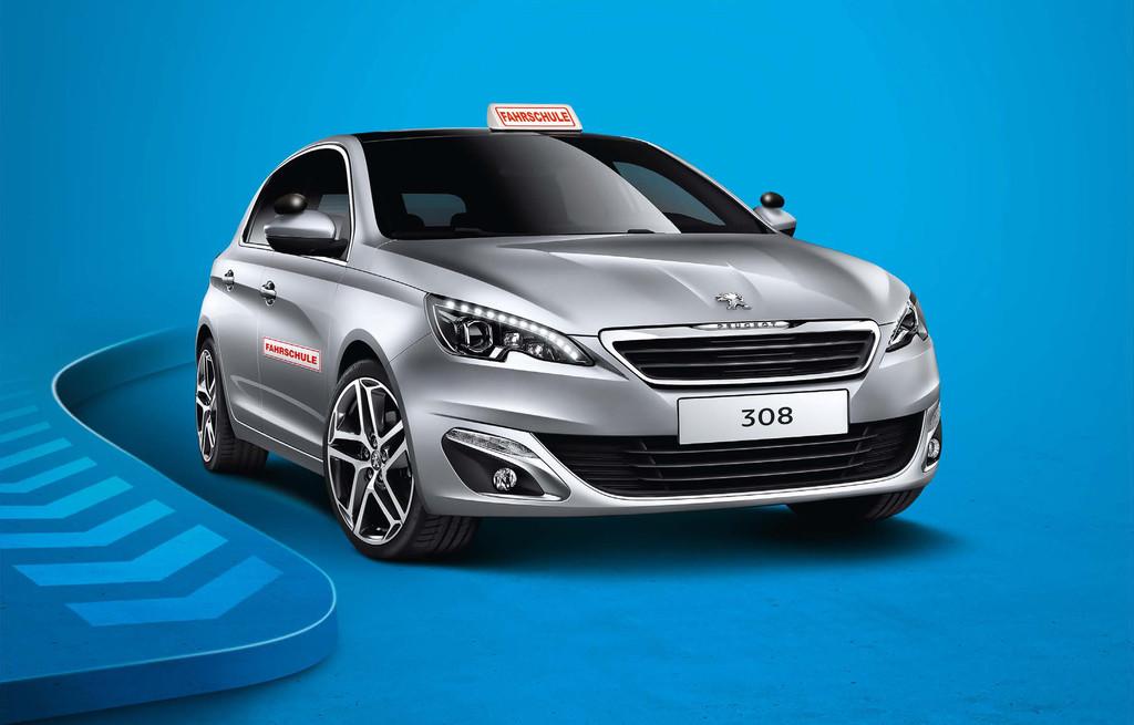 Peugeot bietet den 308 als Fahrschulauto an