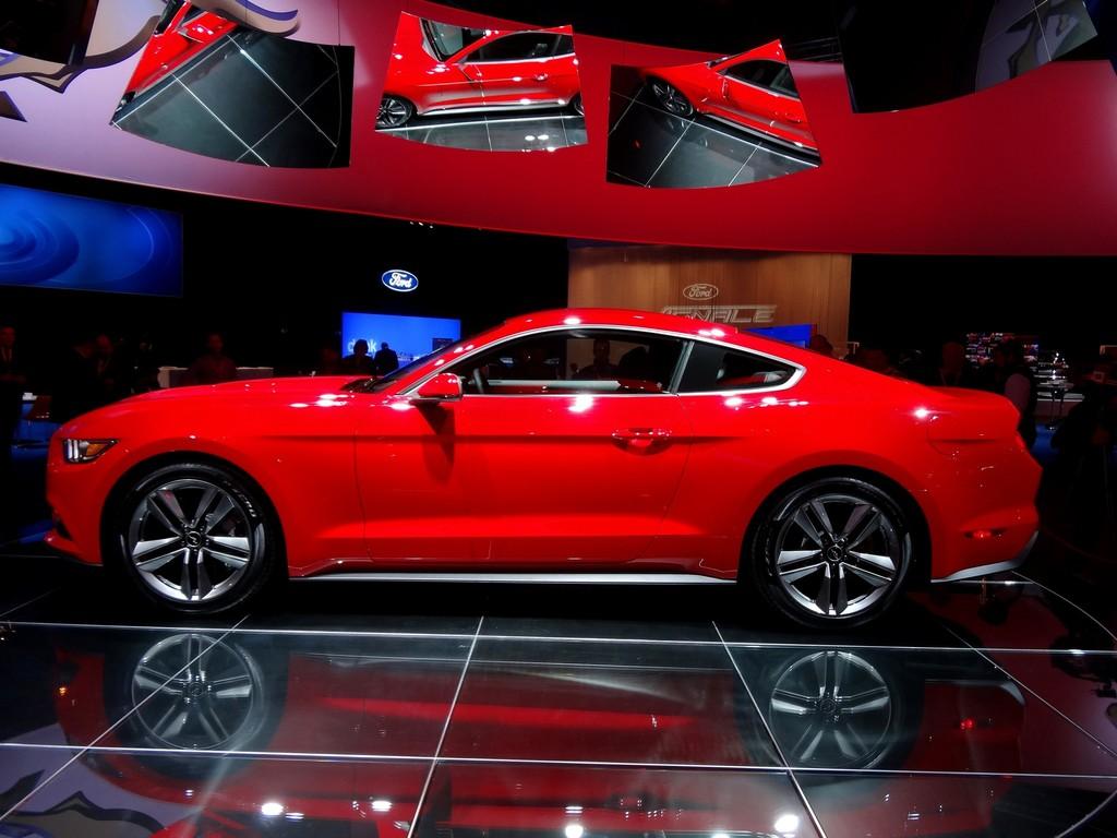 Aufnahmen vom Ford Mustang Coupé bei der Premiere