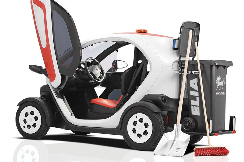 Der Renault Twizy jetzt auch als Müllauto