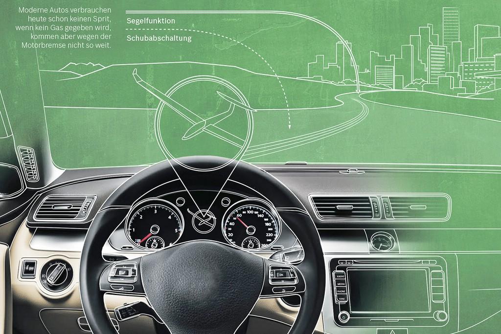 Das Start-Stopp-System von Bosch mit Segelmodus verhilft den Fahrer Sprit einzusparen