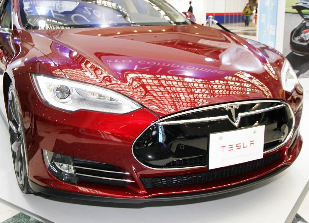 Die Frontschürze des Elektro-Modells Tesla Model S