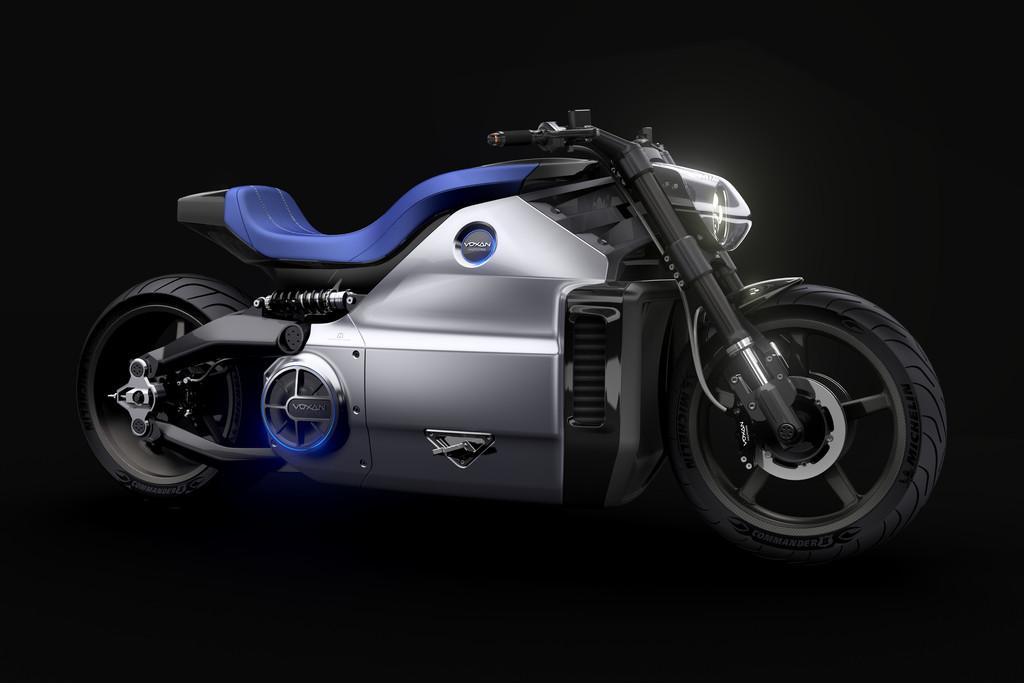Dieses Motorrad Voxan Wattman fährt rein elektrisch