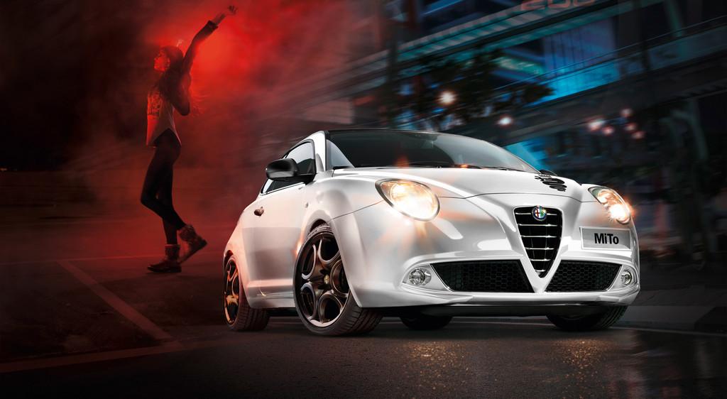 weißer Alfa Romeo Mito als Sondermodell Connect