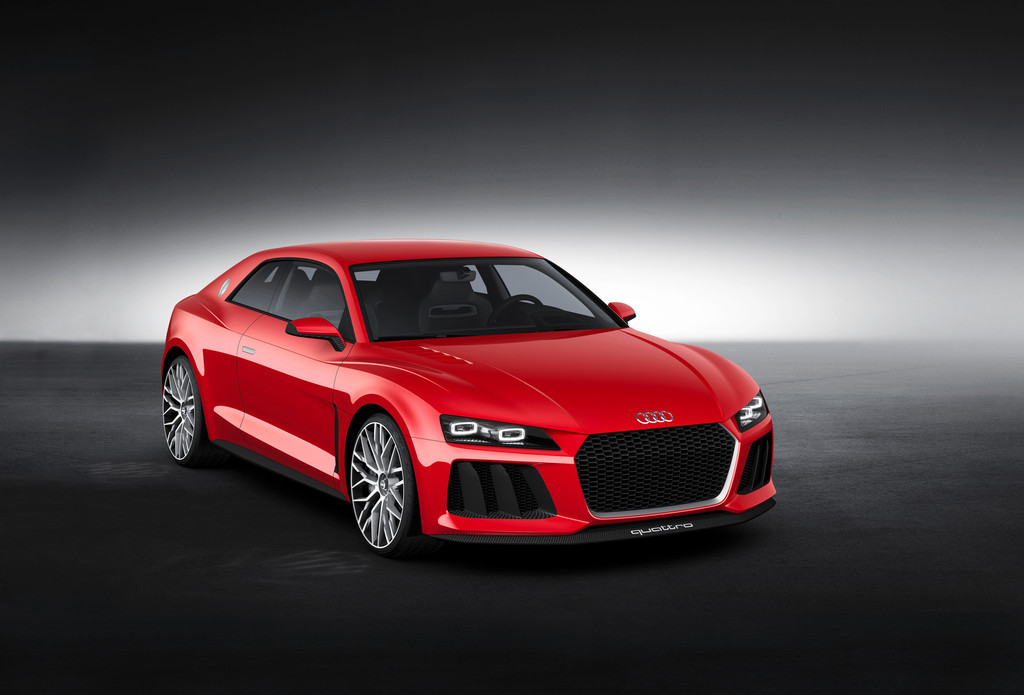 Coupe Audi Sport Quattro Laserlight Concept in rot